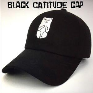 (June)🧢🙀😺NWOT BLACK CATITUDE CAP